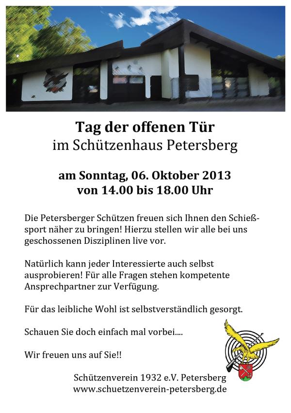 Flyer Tag der offenen Tür am 06.10.2013