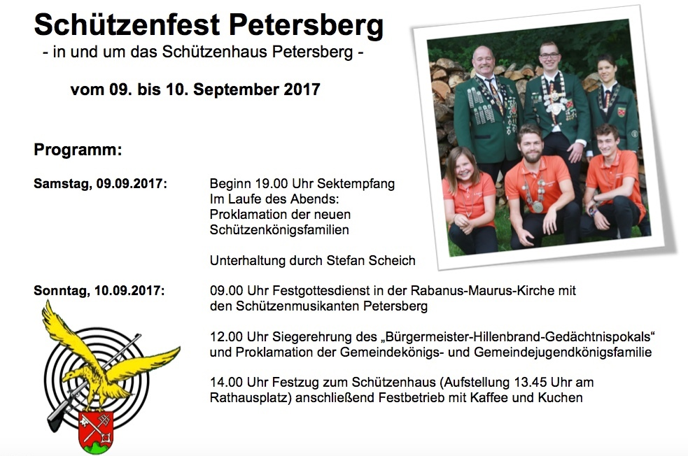 Programmflyer Schützenfest 2017