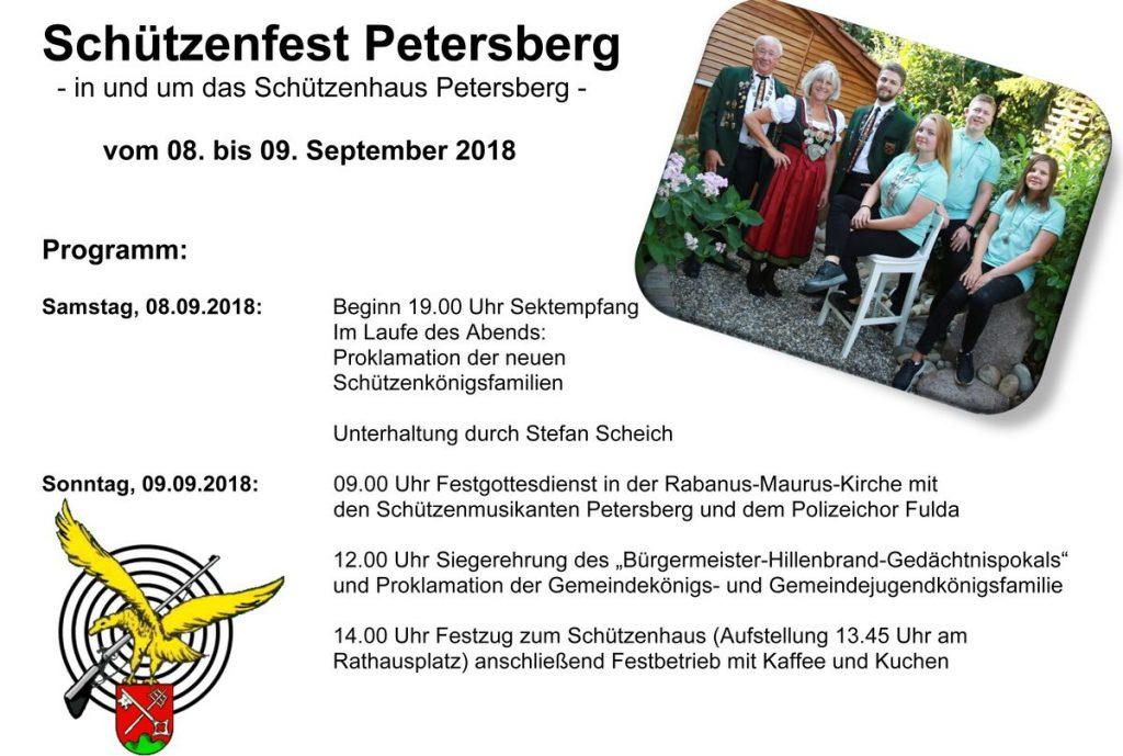 Programmflyer Schützenfest 2018