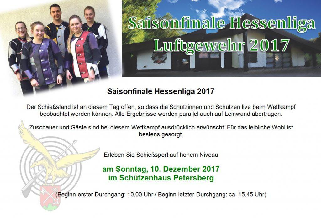 Finale Luftgewehr Hessenliga 2017 im Schützenhaus Petersberg