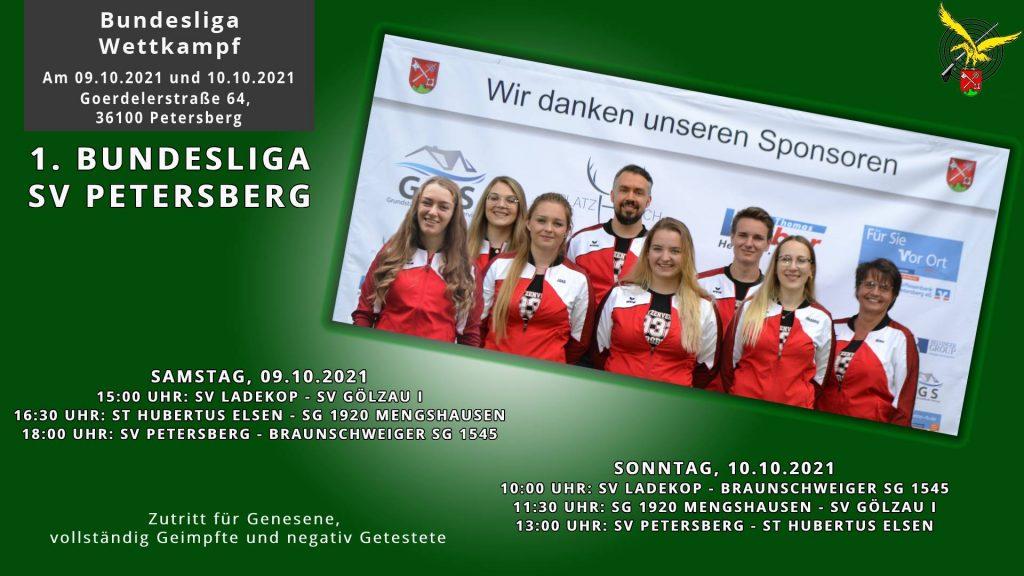 Flyer Wettkampf 1. Luftgewehr Bundesliga Petersberg 2021